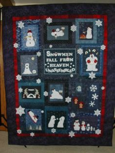 Image result for snowman quilt by marilyn mcspadden