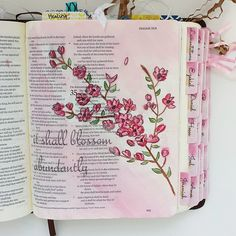 Inspired by this floral branch: { Isaiah 35 } Isaiah Bible, My Bible, Bible Scriptures, Bible Quotes, Isaiah 3, Scripture Art, Bible Art, Hymn Art, Scripture Memorization