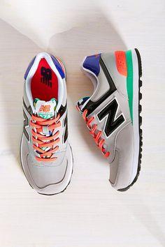 New Balance 574 Pop Tropical Running Sneaker - Urban Outfitters Nb Sneakers, New Balance Sneakers, Retro Sneakers, Girls Sneakers, New Balance Shoes, Running Sneakers, Sneakers Fashion, Zapatillas New Balance, Baskets