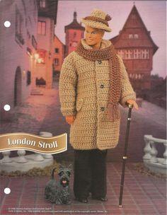 Crochet Ken Outfit London Stroll  Pattern on Etsy