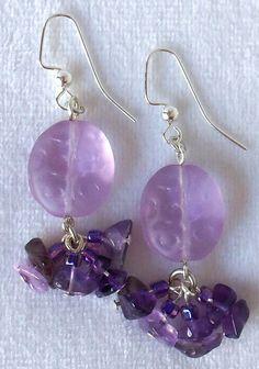 Boucles d'oreilles violet Glow