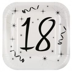 Assiette carton anniversaire 18 ans 23 cm les 10