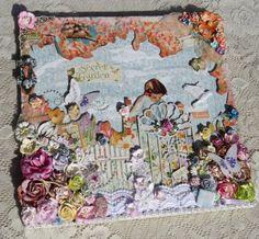 Secret Garden altered art plank by Brittany Pochick! #graphic45