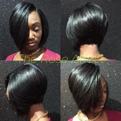Very Cute Cute Cute sew in Bob. Short n' sassy. This is The Rose Affect! Get Pricked by A Rose. Have you booked yet? Short Sew In Hairstyles, Black Girl Bob Hairstyles, Weave Bob Hairstyles, Bob Style Haircuts, Bob Haircut Curly, Hairstyles Haircuts, Pretty Hairstyles, Natural Hairstyles, Short Sew In Bob