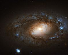 NGC 4102 lies in the northern constellation of Ursa Major (The Great Bear). It contains what is known as a LINER, or low-ionization nuclear emission-line region, meaning that its nucleus emits particular types of radiation — specifically, emission from weakly-ionized or neutral atoms of certain elements. Even in this sense, NGC 4102 is not special; around one third of all nearby galaxies are thought to be LINER galaxies.