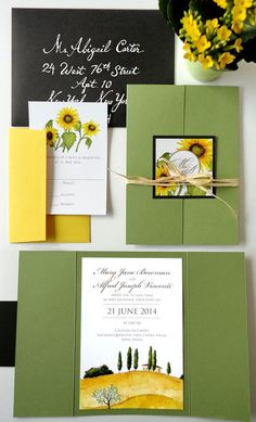 SAMPLE - Tuscan Landscape Wedding Invitation Set