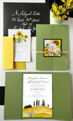SAMPLE  Tuscan Landscape Wedding Invitation Set by NooneyArt, $4.00