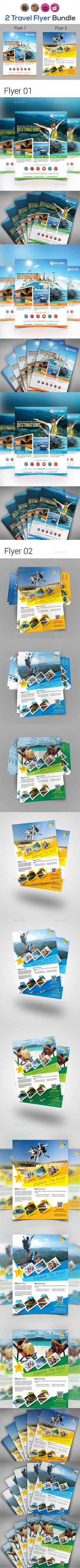 Holiday Travel | Tour #Flyers Templates - Holidays Events Download here: https://graphicriver.net/item/holiday-travel-tour-flyers-templates/19375587?ref=alena994