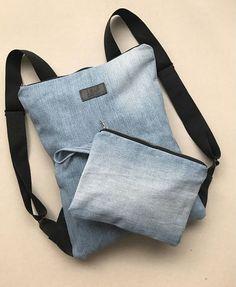 Denim backpack set Recycled denim rucksack with purse Jeans backpack Denim Canvas backpack Denim backpack purse Lap. Jean Backpack, Canvas Backpack, Backpack Purse, Laptop Backpack, Clutch Bag, Tote Bag, Mochila Jeans, Jean Purses, Diy Bags Purses