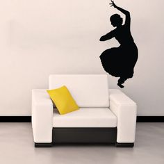 Hindu Indian Girl Dancing Woman Silhouette Wall Vinyl Decal Art Sticker Home Modern Stylish Design Interior Decor for Any Room Smooth and Flat Surfaces Housewares Murals Window Graphic Dance Studio Living Room Bedroom (3905) stickergraphics http://www.amazon.com/dp/B00IIS2T7I/ref=cm_sw_r_pi_dp_c3OVtb1SNKZ7NA2D