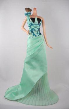Barbie Lady Liberty Green Dress Doll Costume Platform Shoes Fits Model Muse #Mattel