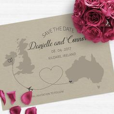 Gorgeous destination wedding  Save the Date. Change invite to any country! Personalised to suit your destination! www.liiartsa.com.au