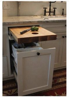 Pull out kitchen worktop