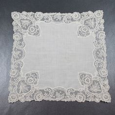 Vintage Dainty Lace Cotton Handkerchief by scdvintage on Etsy, $15.00
