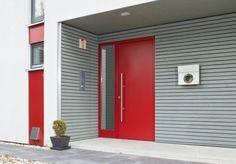 Znalezione obrazy dla zapytania drzwi wejsciowe nowoczesne czerwone