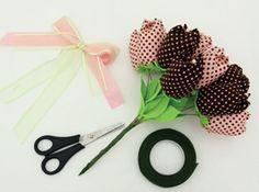 Buquê de flores de tecido - Portal de Artesanato - O melhor site de artesanato com passo a passo gratuito