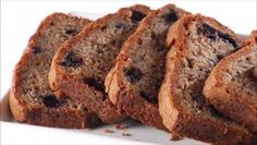 Giada De Laurentiis - Blueberry-Banana Bread: Made this as-is except used c. Whole-wheat flour. Very tasty and no-dairy to boot! Blueberry Banana Bread, Banana Bread Recipes, Giada De Laurentiis, Giada Recipes, Cooking Recipes, Dessert Bread, Sweet Bread, Pain, Deserts