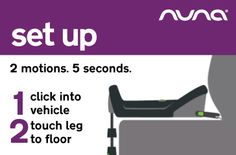 The PIPA base installs to car in 5 seconds with 2 easy and instant steps. #NunaCarSeatHQ http://nuna.eu/USA/pipa-base