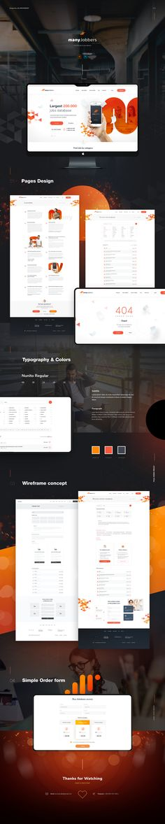 Many Jobbers on Behance Jobs Apps, Website Design Inspiration, Dreaming Of You, Web Design, Typography, Photoshop, Behance, Dreams, Landing