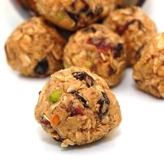 Quick and easy breakfast or snack that is great for on the go people like yourself. Just pop one of these delicious peanut butter and granola bites in your mouth as an energy booster to keep you go...