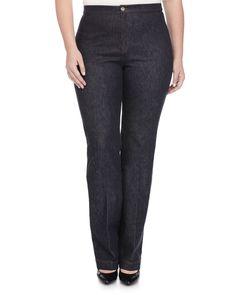 Igea Stretch Denim Pants, Women's, Navy Blue - Marina Rinaldi