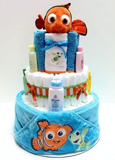 Hey, I found this really awesome Etsy listing at https://www.etsy.com/listing/151243227/finding-nemo-diaper-cake #babyshowergifts