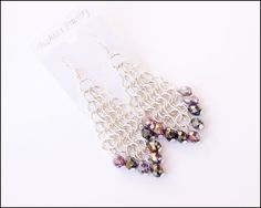 Handmade Chain Maille Dangle Diamond by lajoliefilleboutique
