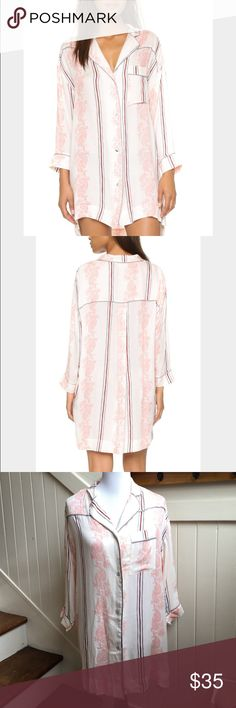 NWT! Free People Pink Close To Me - Gardenia Combo New With Tags Women's Pink Print Close To Me Nightshirt - Gardenia Combo Free People Intimates & Sleepwear