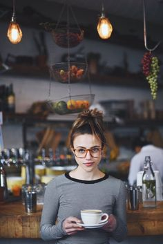 coffee | mornings | stripes | kitchens | hipster glasses | messy topknots