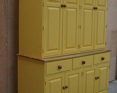 Freestanding Kitchen Sink Cupboard | Etsy Kitchen Sink Units, Kitchen Cabinets, Oak Cupboard, Belfast Sink, Freestanding Kitchen, Easy Home Decor, Slate, Furniture Design, Etsy