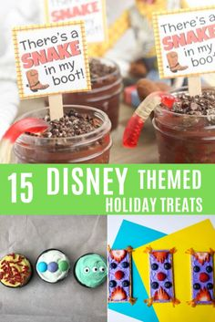 Disney themed treats will add a touch of magic to your holiday. Perfect ideas for kids, desserts and appetizers Disney Inspired Food, Disney Food, Disney Desserts, Disney Recipes, Walt Disney, Disney Themed Cakes, Very Merry Christmas Party, Epcot Food, Holiday Crafts For Kids