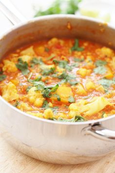 Butternut Squash, Cauliflower and Red Lentil Dhal