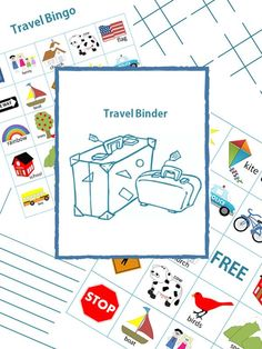 Make travelling easier with kids with this Travel binder with free printable