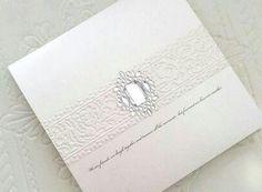 Elegant Antique White by www.bwreporter.com.au Embossed Wedding Invitations, Elegant, Antiques, Cards, Future Tense, Classy, Antiquities, Antique, Maps