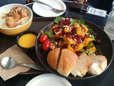 Pumpkin Salad & Potato Soup