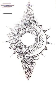 beautiful mandala tattoo are in the right place for tattoos mandalas mandalas Mandala Tattoo Design, Moon Tattoo Designs, Mandala Sun Tattoo, Colorful Mandala Tattoo, Mandala Drawing, Mandala Tattoos For Women, Mandala Tattoo Sleeve Women, Sun And Moon Mandala, Moon Sun Tattoo
