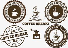 Vector Retro coffee icon