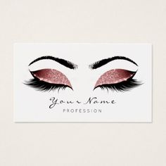 Purple Glitter Makeup Artist Lashes Black White Business Card - black and white style stylish cool unique customize cyo Navy Makeup, Silver Makeup, Pink Makeup, Glitter Makeup, Brown Makeup, Beauty Business Cards, Makeup Artist Business Cards, Beauty Lash, Beauty Makeup