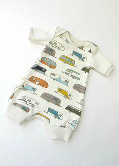 a693b252b2a ORGANIC boy romper-Baby boy romper camping trailers- Summer toddler romper-Newborn  organic clothes-Baby boy shower gift-Organic baby clothes