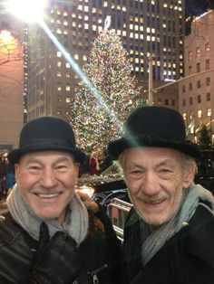Patrick Stewart & Ian McKellen <----stop being so adorably awesome. They have such a great friendship. :)