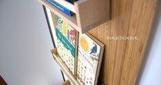 Hier zeige ich euch unser DIY Montessori Bücherregal.