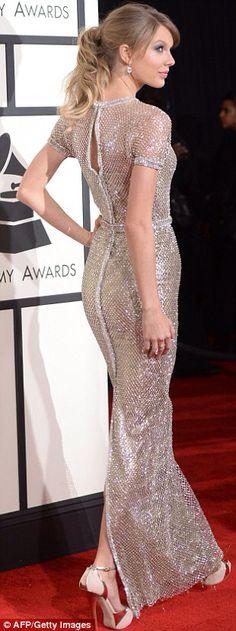 Long gold shiny dress