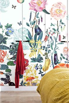 Make the wardrobe doors a wallpaperwallpaper?