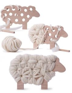Woody The Sheep Knitting Toy | The Junior