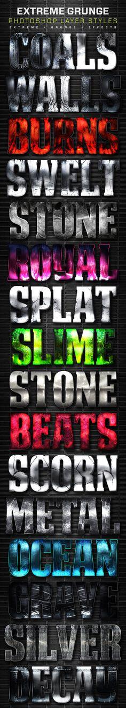 16 Extreme Grunge Layer Styles Volume 6