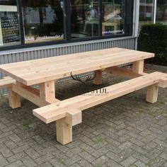 picknicktafel forreest gemaakt van douglas hout kan ook op maat worden gemaakt bij leven in stijl meubelmakerij