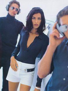 Vogue UK, February 1996  Photographer: Neil Kirk  Model: Yasmeen Ghauri