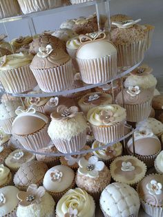 Shabby Chic Wedding Cupcakes close up 2 by I Love Sweets and Cakes, via Flickr