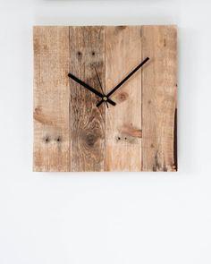 Minimal Wooden Clock- Handmade Pallet Home Decor & Gift Idea