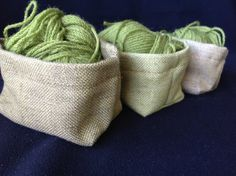 Green leaf and olive mini fabric basket organiser. by CathyParry, $15.00 Basket Organization, Fabric Basket, Craft Items, Unique Colors, Green Leaves, Color Combos, Stitches, Wool, Mini
